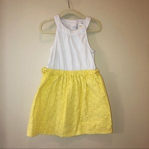 Gymboree Yellow And White Color Blocked Dress
